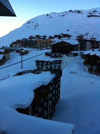 Fahrenheit Seven Val Thorens: 4th floor room view