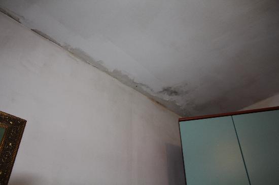 Guest House Bella Venexia: Murs sales délabrés et moisis de la chambre