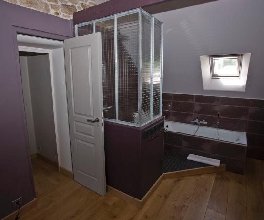 Kereleven : Salle de bain de la chambre Prune