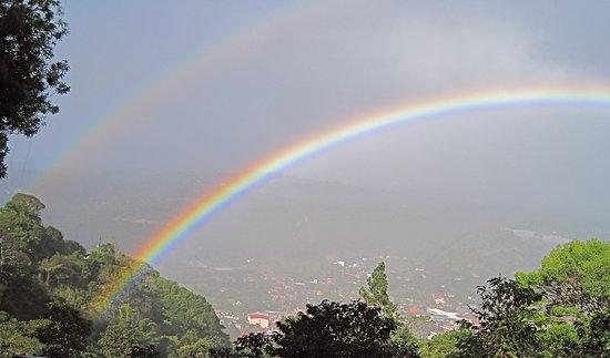 Cloud Forest Botanicals: Double rainbow over Boquete
