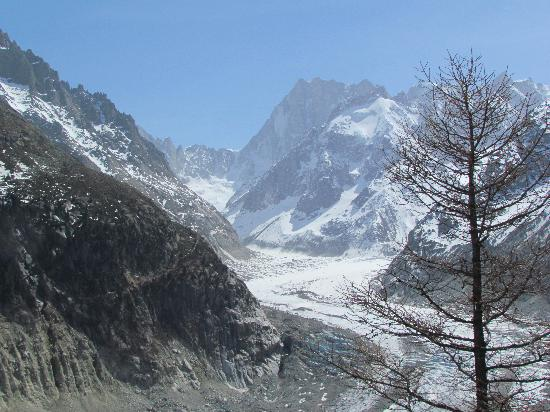 Montenvers - Mer de Glace train: What an amazing sight to see a glacier like this