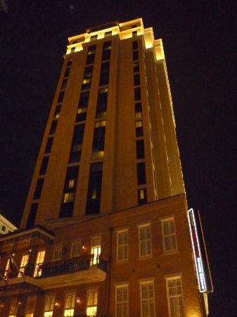 Harrahs Hotel at night
