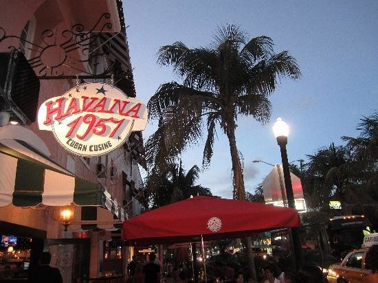 Photo of Caribbean Restaurant Havana 1957 Cuban Cuisine Espanola Way at 405 Espanola Way, Miami Beach, FL 33139, United States