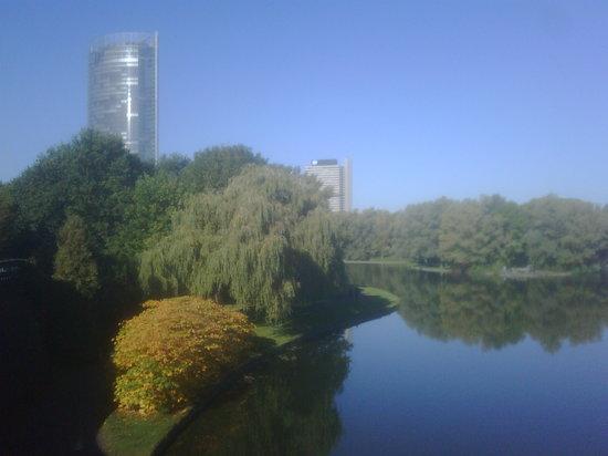 Bonn, Duitsland: Blick auf den Posttower
