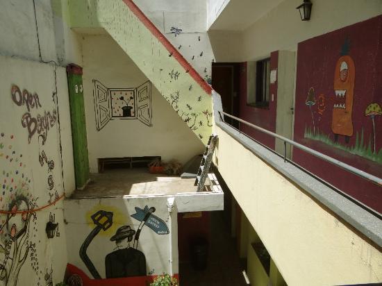 Open Bayres Hostel: Die Stiegen als Atrium