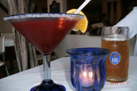 Black Forest Restaurant: Drinks - blackberry margarita & beer