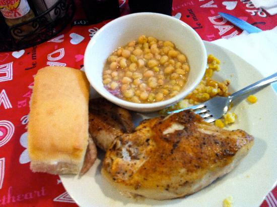 Foody's: Zipper Peas & Baked Chicken