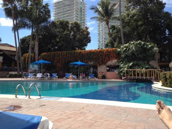 Hacienda Buenaventura Hotel & Mexican Charm All Inclusive: View of the pool from our pool side seats