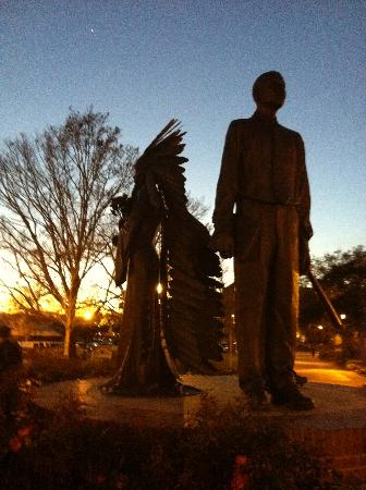 Florida State University: Campus Statue at Dusk Celebrating Afro-American Firsts