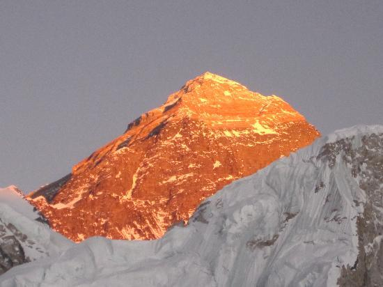 Actual Adventure Trekking and Expedition: Sunset view of Everest.