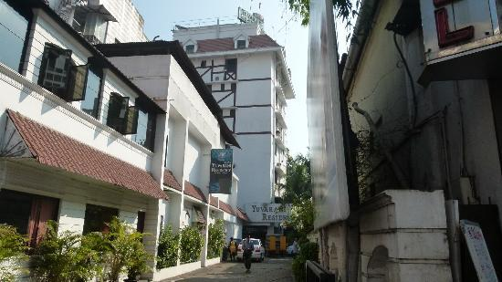 Yuvarani Residency: The hotel from outside
