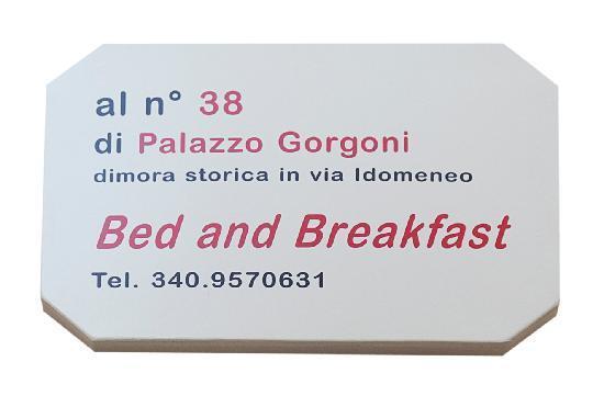 B&B Palazzo Gorgoni: Targa B&B
