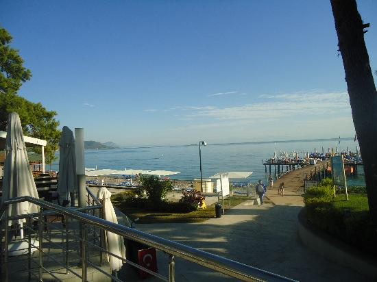 Barut Kemer : View of sea from pool area