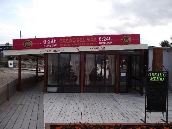 "Restaurant ""Cacao del mar"" on the shores of the beach, near the Hotel Calypso"