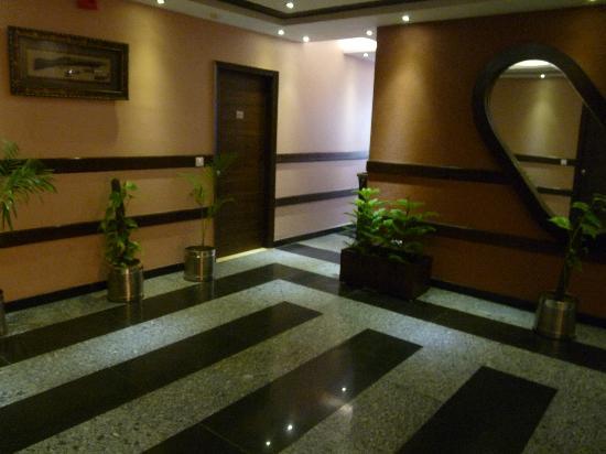 Hotel Le Seasons: Lift lobby area