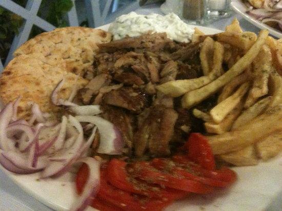 Margarita: gyros al piatto