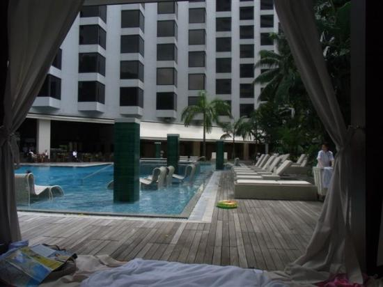 Grand Hyatt Singapore: Pool mit Hotelansicht