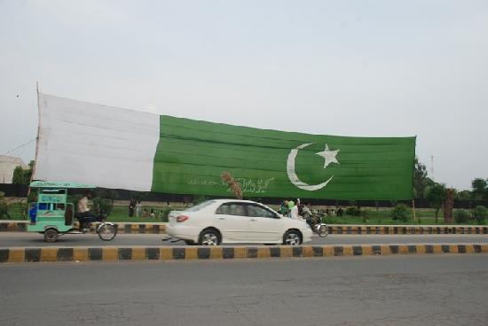 Pak Flag at GT Road, Gujranwala