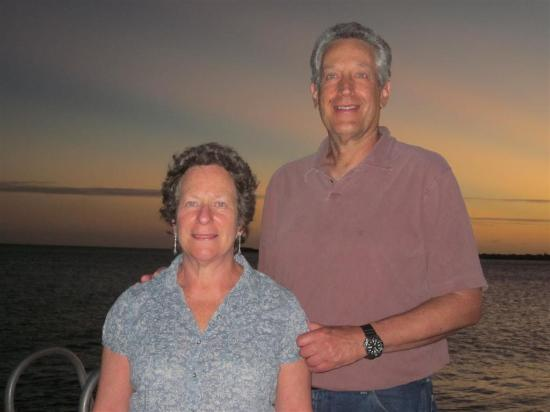 Harbour Village Beach Club: My wife and I on our last night.