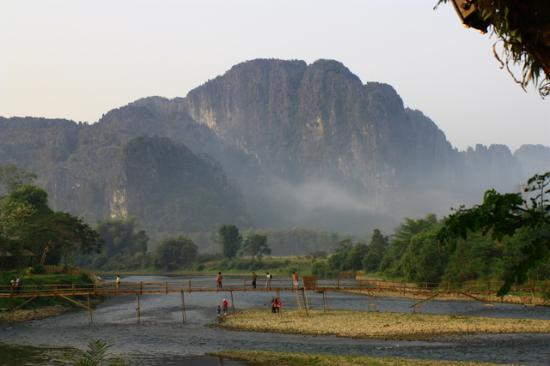 Villa Vang Vieng Riverside: The view