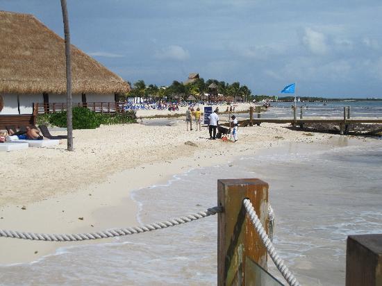 Beach area near Italian restaurant