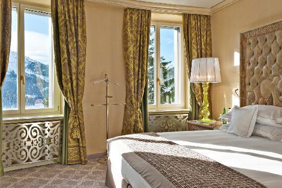 Carlton Hotel St. Moritz: Schlafzimmer Deluxe Suite