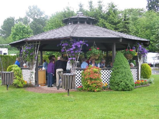 Burnaby Cariboo RV Park: Relax in our outdoor gazebo.
