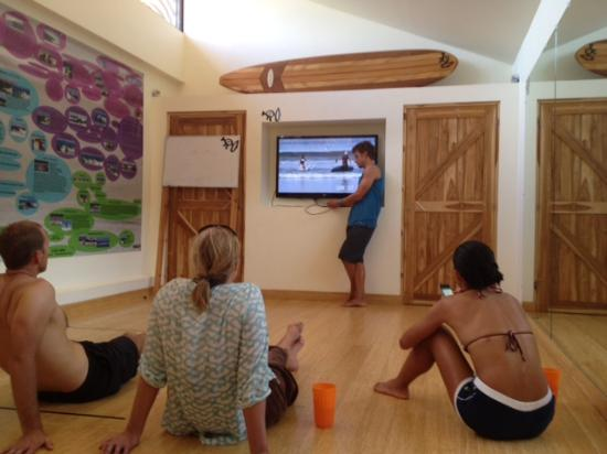 Surf Simply: Oli discussing video feedback of our technique.