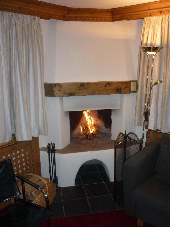 Albana Hotel & Lodge: Cheminée