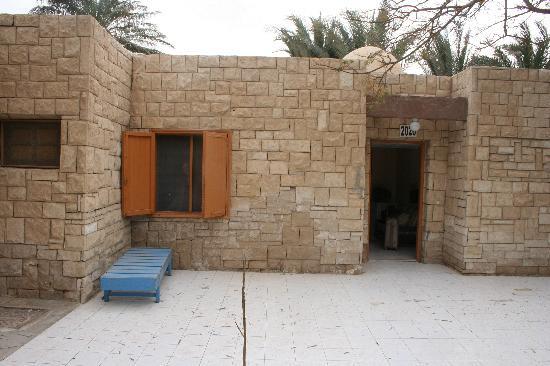 Hor Palace: vores værelse udefra, ligner mest af alt et fængsel