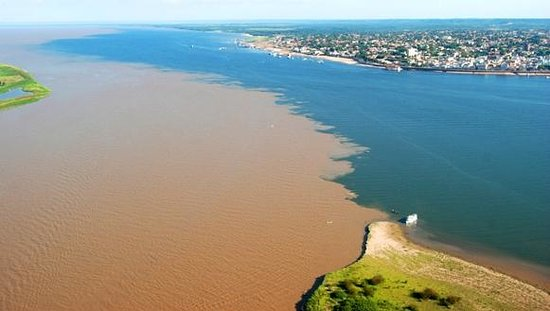 Tapajos and Amazon Rivers in Santarem