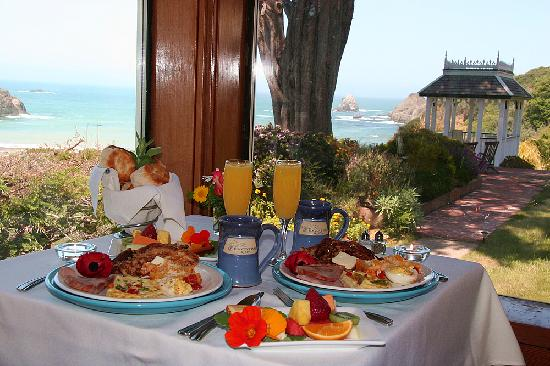 The Elk Cove Inn & Spa: An amazing breakfast included in room rate.