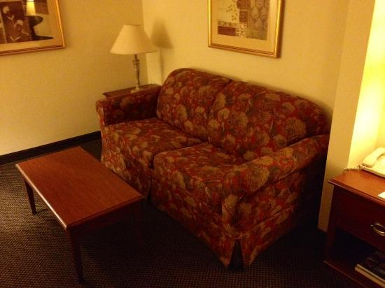 Best Western Coyote Point Inn: Sleeper sofa in king room