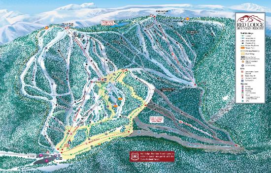 Red Lodge Mountain: Trail Map
