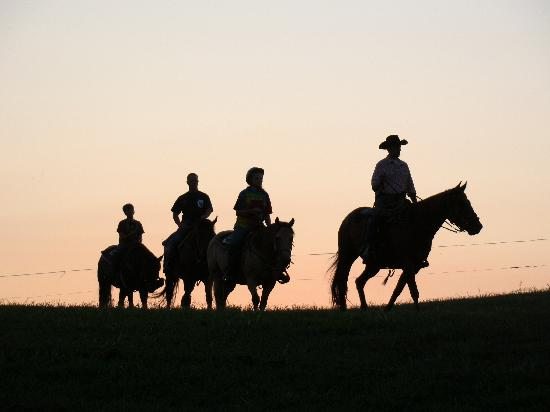 KD Guest Ranch: Evening Trail Ride at KD Ranch
