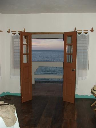 Coral Cove Resort: View out the French doors of the Dophin suite.