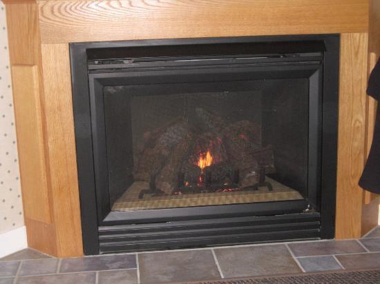 Eastern Slope Inn: Fireplace in Whitaker House