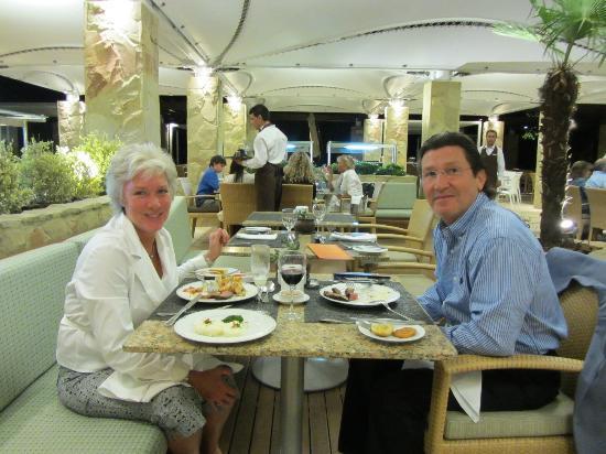 El Cid Restaurant : Hubby and I enjoying the Buffet