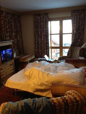 Les Arcs, Francia: The living room - not really big enough for 6