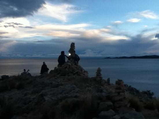 Isla Suasi Hotel : titicaca desde Suasi