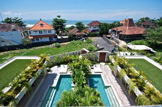 Pantai Indah Villas Bali: View from rooftop