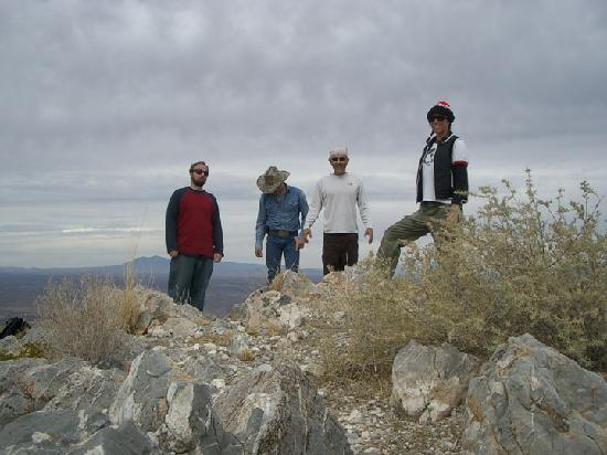Sierra County, NM: Hikers on Turtleback Mountain