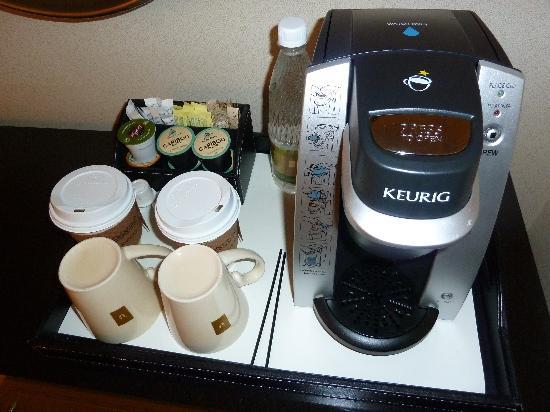 The Umstead Hotel and Spa: Individual Keurig coffee makers in each room