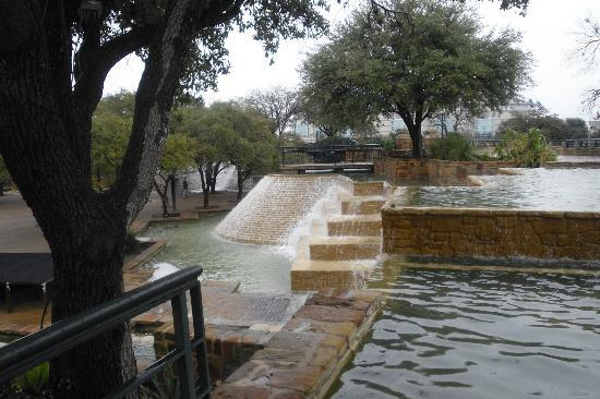Hemisfair Park: HemisFair water area after a rain, Feb 2012