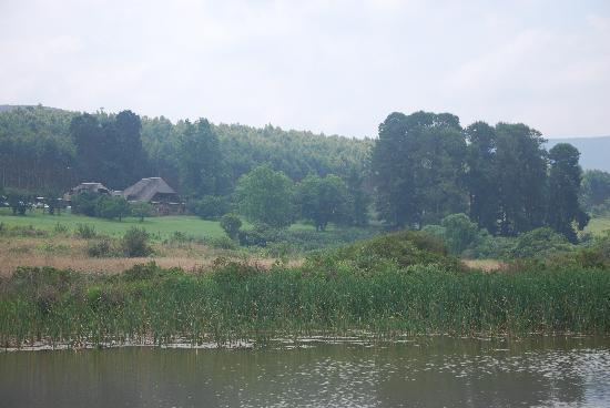 Gunyatoo Trout Farm & Guest Lodge: The Lodge from the Dams