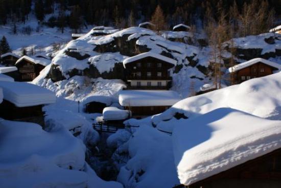Silencehotel Edelweiss: Blick vom Balkon im 2. Stock