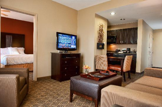 Homewood Suites by Hilton Waco, Texas: King One Bedroom Suite featuring seperate sleeping and living areas