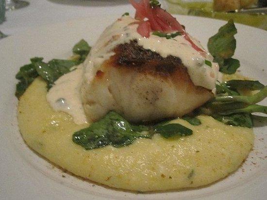 Winfield's Restaurant: Striped Sea Bass w/ Rosemary Polenta & Watercress
