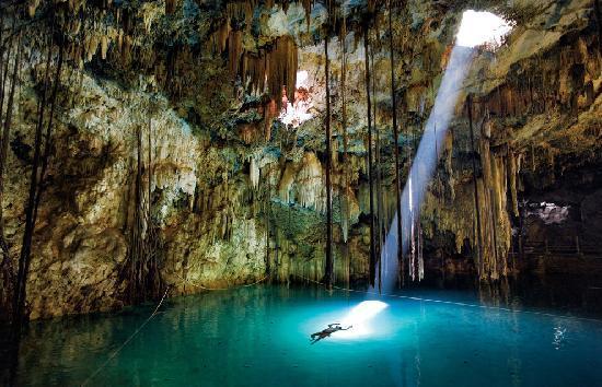 Cenote near Cancun, Mexico