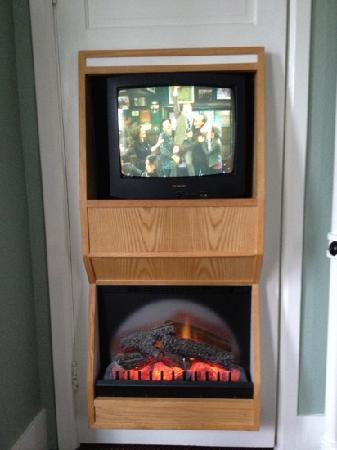 James Bay Inn Hotel, Suites & Cottage: TV / fireplace